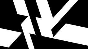 Ciclo geometrico in bianco e nero del modello video d archivio