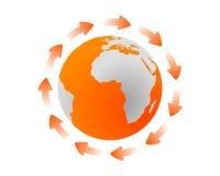 Ciclo global stock de ilustración