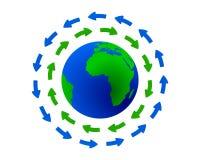Ciclo global ilustração royalty free