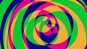 Ciclo grafico variopinto psichedelico del fondo di //1080p dei cerchi 2 video royalty illustrazione gratis