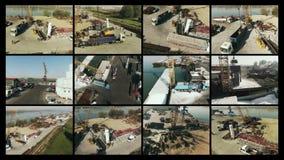 Ciclo industriale del montaggio della compilazione stock footage