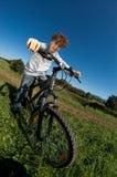 Ciclo joven del muchacho Imagen de archivo
