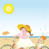 Ciclo junto stock de ilustración
