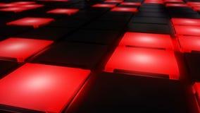 Ciclo leggero d'ardore del vj del fondo di griglia della discoteca del night-club della parete rossa della pista da ballo illustrazione di stock
