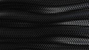 Ciclo metallico scuro del fondo dell'onda dell'armatura a catena archivi video