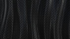 Ciclo metallico scuro del fondo dell'onda dell'armatura a catena video d archivio