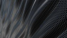 Ciclo metallico scuro del fondo dell'onda dell'armatura a catena stock footage