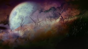 Ciclo morto di Forest Full Moon Happy Halloween 4K royalty illustrazione gratis
