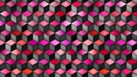Ciclo multicolore di moto di pendenza di forma del cubo stock footage