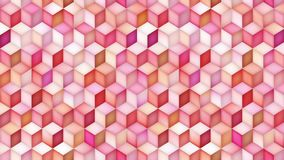 Ciclo multicolore di moto di pendenza di forma del cubo video d archivio