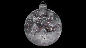 Ciclo opaco del ghiaccio del nuovo anno di Natale alfa della bagattella delle palle rosse di vetro bianche della decorazione illustrazione di stock