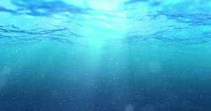 Ciclo perfettamente senza cuciture di alta qualità delle onde di oceano blu profonde da fondo subacqueo con il micro scorrimento  video d archivio