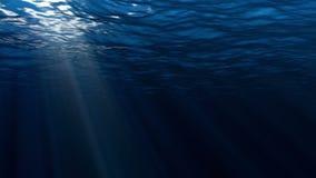 Ciclo perfettamente senza cuciture di alta qualità delle onde di oceano blu profonde da fondo subacqueo stock footage