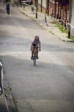 Ciclo profesional para las mujeres menores en Darlowo Foto de archivo