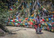 Ciclo que viaja en Yunnan foto de archivo