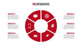 Ciclo rojo del vector infographic Foto de archivo