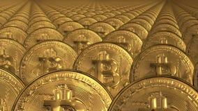 Ciclo senza cuciture delle pile di bitcoins illustrazione vettoriale