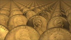 Ciclo senza cuciture delle pile di monete illustrazione vettoriale