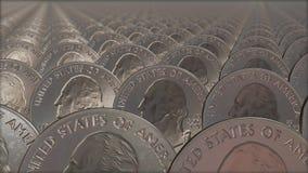 Ciclo senza cuciture delle pile di monete royalty illustrazione gratis