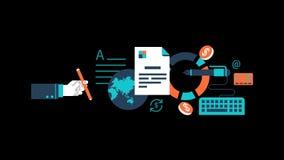 Ciclo trasparente dei grafici di moto di vettore di animazione della gestione di impresa illustrazione vettoriale