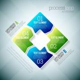 Ciclo trattato Infographic Fotografie Stock Libere da Diritti
