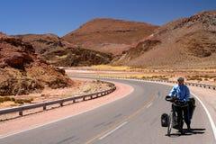 Ciclo a través de la Argentina foto de archivo libre de regalías