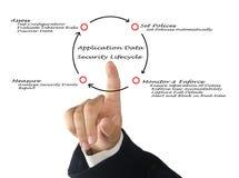 Ciclo vital de la seguridad de datos de uso Fotos de archivo