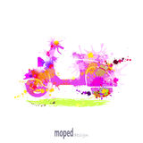 Ciclomotore con le macchie dell'inchiostro Royalty Illustrazione gratis