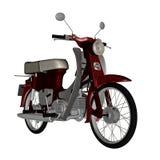 Ciclomotore, motorino - 3D rendono Fotografie Stock Libere da Diritti