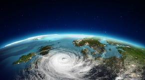 Ciclone del nord di Europa rappresentazione 3d Fotografie Stock Libere da Diritti