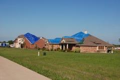 Ciclone del Texas - danno del tetto Fotografia Stock
