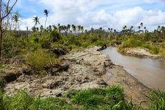 Ciclone ed inondazioni del Vanuatu nel 2014 Immagine Stock