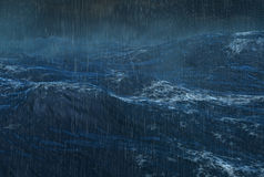 Ciclone piovoso tropicale sull'oceano Fotografie Stock Libere da Diritti