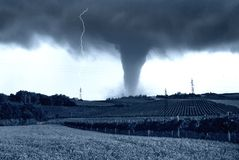 Ciclone sul paese Fotografie Stock
