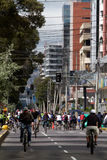Ciclopaseo, cycleway project promoting urban Royalty Free Stock Image