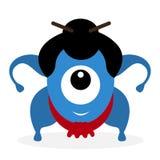 Ciclope divertente del lottatore di sumo del fumetto Immagini Stock Libere da Diritti
