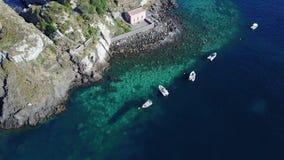 Ciclope Riviera, isola di lachea in Sicilia stock footage