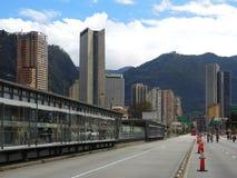 Ciclovia的看法在波哥大,哥伦比亚 库存图片