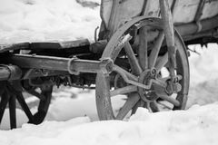 Cicmany, Словакия Старые деревянные дома в деревне Cicmany Словакии в зиме Орнаменты от Cicmany, и скороговорка людей словака Стоковая Фотография RF