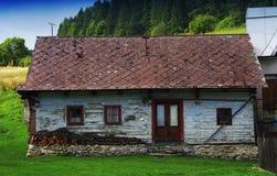 Cicmany - malerisches historisches Dorf Lizenzfreie Stockfotos