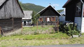 Cicmany, village historique traditionnel en Slovaquie Image stock