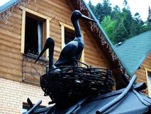 Cicogne del metallo Fotografie Stock