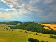 On the Cicov hill in Central Bohemian Uplands, Czech Republic. Before storm. Nature monument stock photos