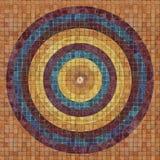 Cicularpatroon op tegels Stock Foto
