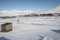 A cidade ártica de Longyearbyen - Spitsbergen Imagem de Stock Royalty Free