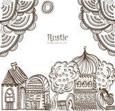 Cidade étnica ilustração royalty free