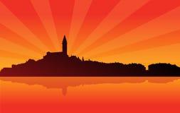 Cidade 02 do Sunburst Imagem de Stock Royalty Free