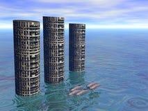 Cidade 2 do golfinho ilustração stock