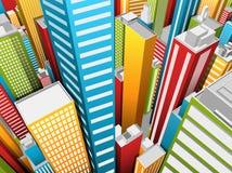 Cidade Imagem de Stock Royalty Free