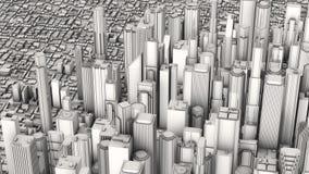 Cidade aérea Fotografia de Stock Royalty Free
